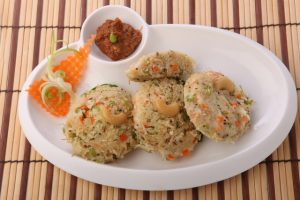Semolina Suji and Vegetable Idli