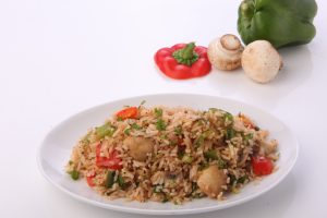 Mushroom and Bell Pepper Fried Rice